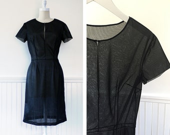 1960s Dress --> 1960s Vintage Dress -->  60s Dress --> 1960s Sheer Dress --> Vintage Black Dress --> 1960 Dress --> Vintage Cocktail Dress