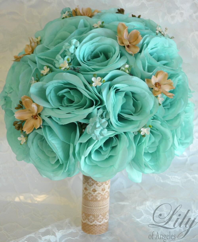Bridal bouquets wedding 17 piece package silk flowers bouquet zoom dhlflorist Gallery