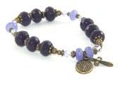 Catholic Stretch Bracelet, Miraculous Medal - 3 Hail Marys Chaplet