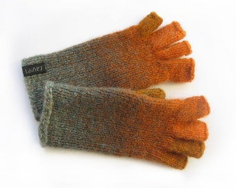 fingerless gloves, felted gloves, size M
