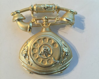 AJC Rotary Telephone Brooch lot 190