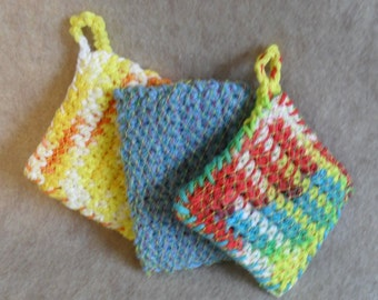 Little crochet kitchen Sponges Cotton & recycled mesh   (choose one or custom)