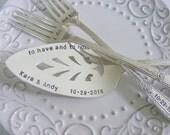 Cottage Chic Wedding Cake Server and Forks Set