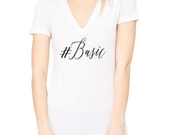 Basic Tshirt, V Neck Shirt, #Basic Shirt, Weekend Shirt, TShirt, White Shirt, Womens Shirt