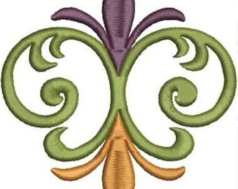 Color Fleur de Lis #4 - Fleur de Lis Embroidery Design