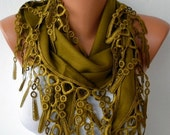 Olive Green Pashmina Scarf,Winter Scarf, Cowl Scarf, Bridesmaid Gift,Gift Ideas For Her, Women Fashion Accessories,Christmas Gift