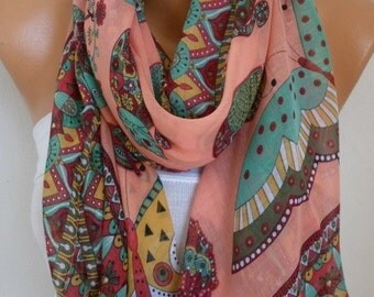 Owl,Bird,Cat Cotton Soft Scarf,Spring Summer Scarf,Pareo, Oversized Scarf, Cowl Scarf, Shawl, Gift Ideas For Her, Women Fashion Accessories