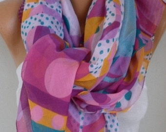 Polka Dot Cotton Scarf Christmas Gift Winter Scarf, Shawl Cowl Oversized Wrap Gift Ideas For Her Women Fashion Accessories  Women Scarves
