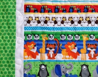 At The Zoo Baby Boy or Girl Quilt