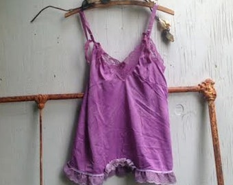 SALE lilac allure babydoll grape boho violet purple gypsy beach Eco Friendly Bohemian boho bridesmaid gift lace Gift for Her top cami