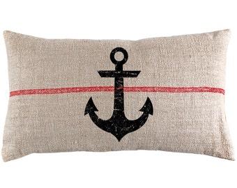 Anchor Grain Sack Lumbar Pillow