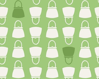 Millie's Closet C2844 GREEN Purses and Handbags By Lori Holt For Riley Blake Cotton Quilt Craft Apparel Retro Novelty