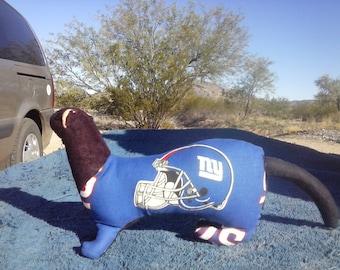 New York Football Stuffed Ferret