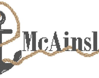 Anchor Cross Stitch Pattern/Name Cross Stitch Pattern/Anchor Name Cross Stitch Pattern/Rope Cross Stitch Pattern/Digital CrossStitch Pattern