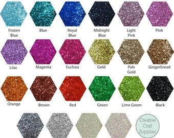 Chunky Glitter Fabric - Choose from 22 colours