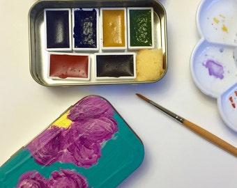 Petite Travel Tin - Watercolor Paint Set