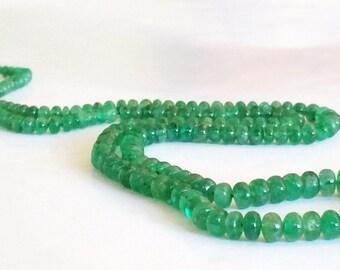 AAA Grade Natural Zambian Emerald Gemstone Strand