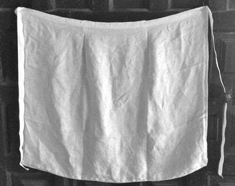 Vintage Apron  made with damask monogrammed dinner napkin