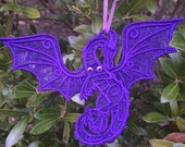 Free Standing Lace Dragon Ornament