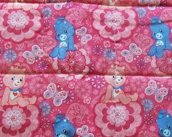 Pink Care Bear! Quilted changing pad