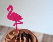 Pink Flamingo Cake Toppers //Party Decoration // Tropical Party // Cupcake Toppers