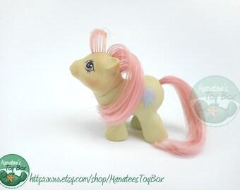 Vintage My Little Pony Sleepy Head Newborn Twin 1980s Toy