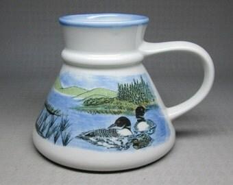 Otagiri travel mug , duck and pond vintage coffee mug