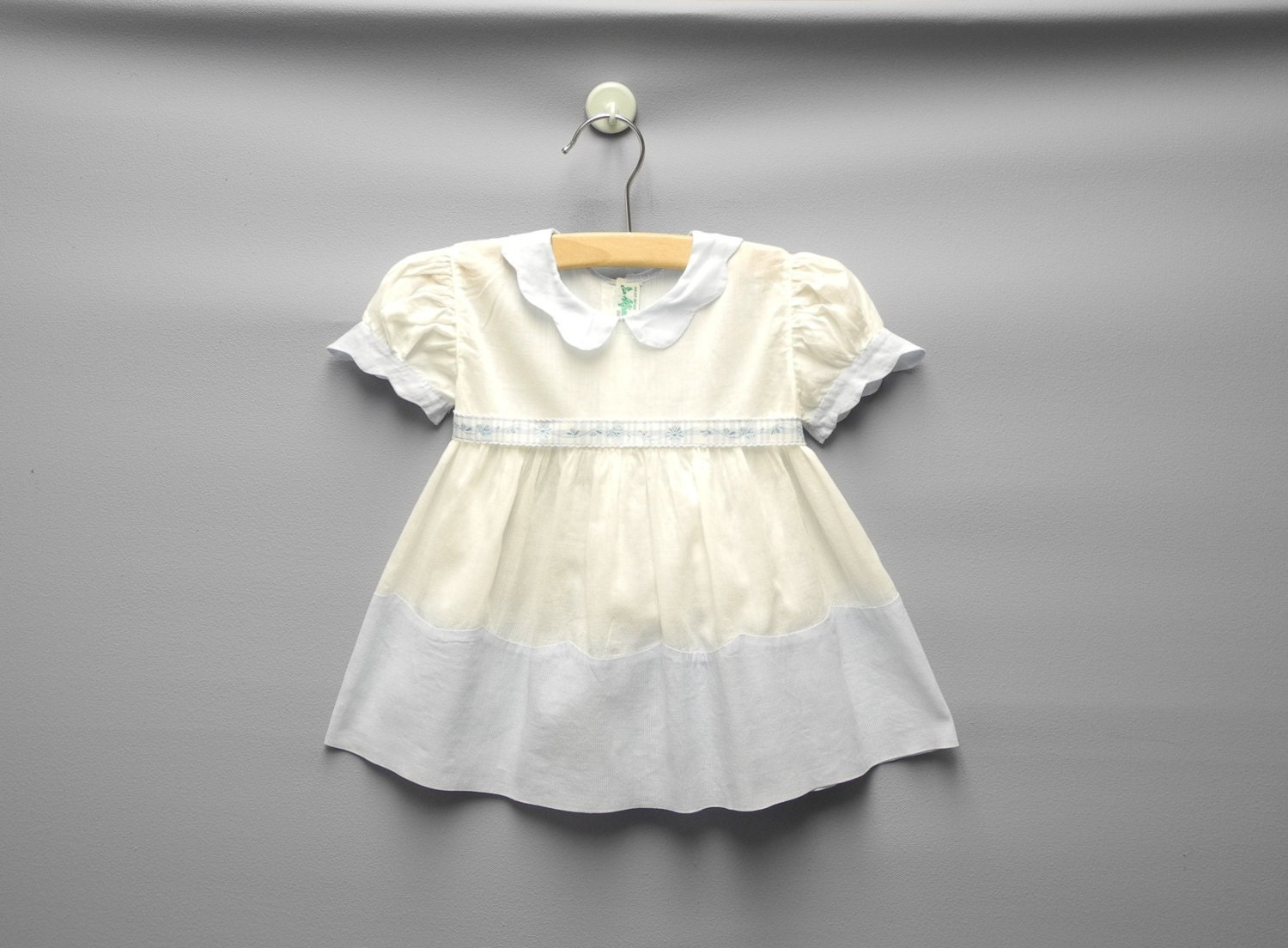 Vintage Baby Clothes 1940's Alfred Leon Pale Blue and