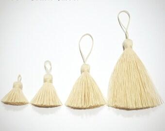 20 pieces 100% Cotton Tassel, Mini Tassel, Cotton Tassel, Unbleached Tassel, Accessories, Wholesale Tassels, tassel earring, natural tassel