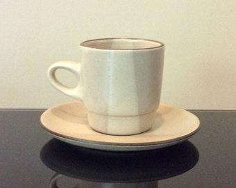 Edith Heath Ceramics Birch Two Tone Mug with Saucer
