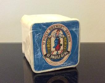 Vintage St Pauli Girl Beer Coasters - 100 Pack