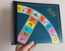 Trivial Pursuit Notebook handmade from a Game Board