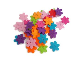 Felt flower button pre cut felt shapes small Fabric flower felt patch fabric accessories crafts