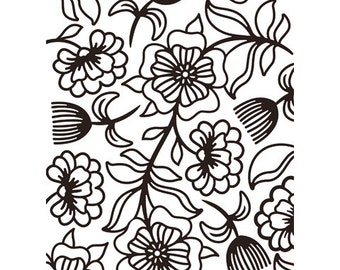 FLORAL WHIMSICAL Embossing Folder by Darice Size A2