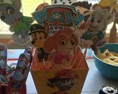 Paw Patrol Birthday Centerpiece decorations