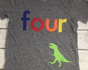 Dinosaur party, T-Rex Dinosaur Shirt Boys Birthday Tee Organic Shirt Blend Dinosaur Birthday, dinosaur invite, dinosaur decor, dino party