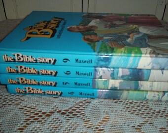 4 volume book set Arthur S Maxwell The Bible Story Books Children 4, 5, 6 & 9