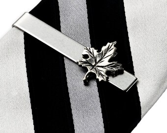 Leaf Tie Clip - Tie Bar - Tie Clasp - Business Gift - Handmade - Gift Box Included