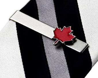 Canada Tie Clip - Tie Bar - Tie Clasp - Business Gift - Handmade - Gift Box Included