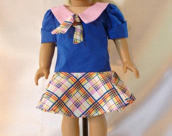 1970's style  Dress  for 18 inch American Girl dolls D037