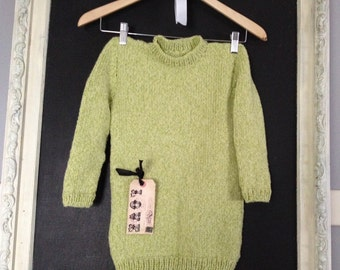 On SALE Handmade with Love /Super wool easy care Handknit children's pullover sweater 3pc.set.