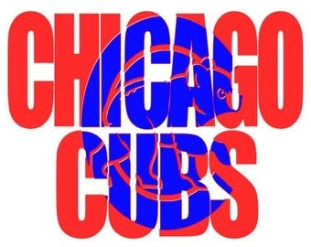 Chicago Cubs Decal for Shirt/Womens Cubs Tshirt Decal/Chicago Cubs tshirt Decal/Chicago Cubs tshirts/Chicago/Cubs shirt/ Kids Cubs Decal