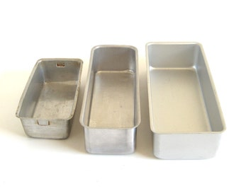 Loaf Pans Wearever 2773 Fruit Cake Pan Small Aluminum Bakeware Straight Sides Mirro 5196M