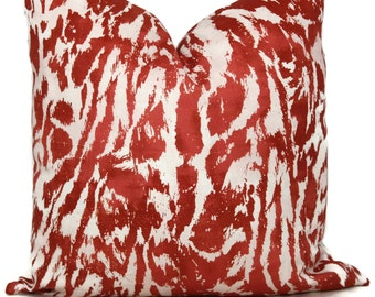 Decorative Pillow Cover Alizarin Feline by Celerie Kemble 18x18, 20x20 or 22x22, 24x24, Eurosham or lumbar, Schumacher pillow, accent pillow