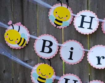 Bumble Bee Birthday Party Banner, Mommy To Be Baby Shower Banner, Bee Party
