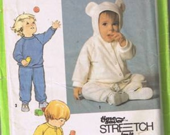 """Simplicity 9738 Toddlers' Pull On Pants, Pullover """"Hood"""" Jacket - Sizes 1/2, 1 & 2"""