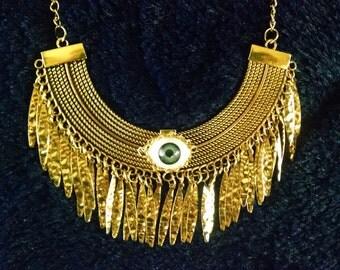 Tribal All Seeing Eye Bib Necklace