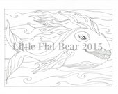 Fish Adult colouring page.