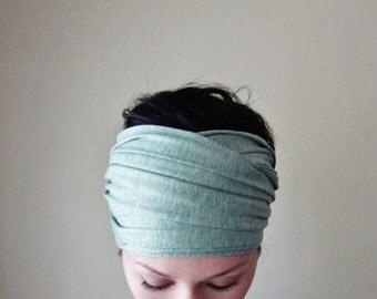 ICY MINT Yoga Headband - Extra Wide Head Scarf - EcoShag Hair Wrap - Womens Hair Accessories - Workout Accessory