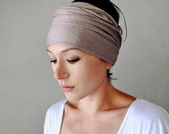 DRIFTWOOD Jersey Hair Wrap - Extra Wide Yoga Headband - Driftwood Head Scarf - Workout Accessory - EcoShag Hair Accessories